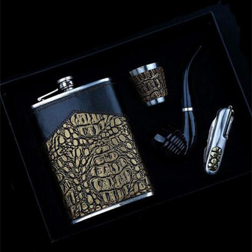 stainless steel hip flask set